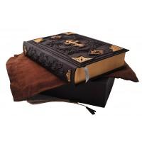 Библия с ажурным крестом