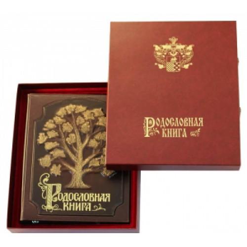Родословная книга «Стандартная» с росписью в оплётке в футляре с бархатным ложементом