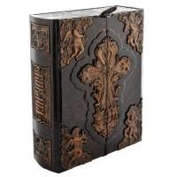 «Библия» в кожаном переплете с художественной накладкой в подарочном коробе