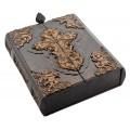 «Библия» в кожаном переплете с художественной накладкой в подарочном коробе1