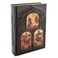 «Библия» в кожаном переплете с художественной накладкой в подарочном коробе2