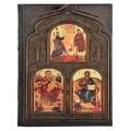 «Библия» в кожаном переплете с художественной накладкой в подарочном коробе3