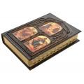 «Библия» в кожаном переплете с художественной накладкой в подарочном коробе4