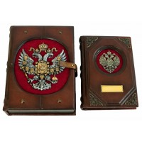 Именной гербовый ежедневник в коробе