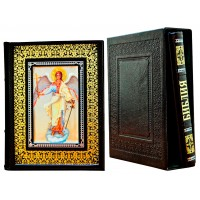 Издание «Библия и Евангелие в 2-х томах» в кожаном переплете ручной работы в футляре