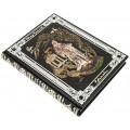 Хайям О.. «Рубайят: Проза и поэзия Азии» в кожаном переплете ручной работы с рельефным цветным и блинтовым тиснением1