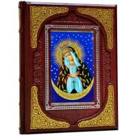 Подарочное издание в 2 томах «Чудотворные иконы и Символы и святыни православия» в кожаном переплете ручной работы