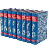 Джек Лондон. Собрание сочинений в 8 томах в кожаном переплете с рисованным обрезом