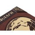 """Подарочная книга """"Флаги мира"""" из натуральных кож с обрезом позолоченным сусальным золотом8"""
