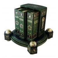«Футбол, энциклопедия» в 3 томах, в кожаном переплете с тематическим футляром
