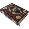 Книга «Библия» в кожаном переплете с иконами святых ручной работы в подарочном мешочке10