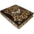 Книга «Охота» в кожаном переплете из шкуры пони в подарочном коробе