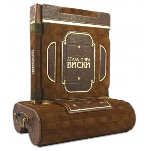 Брум Д.. «Виски, атлас мира» на подставке авторской конструкции в виде бочки