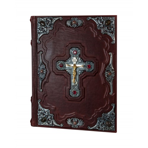 """Подарочная книга """"Библия с иллюстрациями Доре (посеребрённые накладки, в футляре) Большой формат"""""""