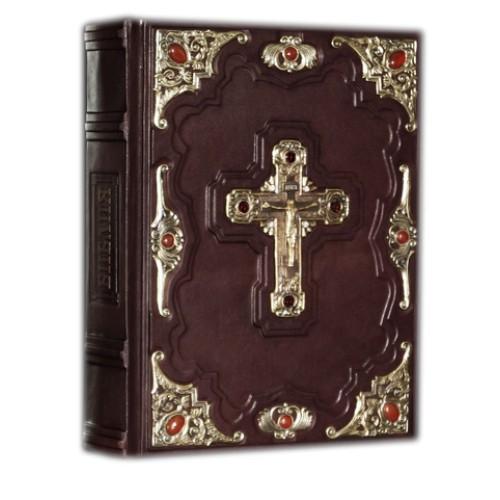 """Подарочная книга """"Библия с иллюстрациями Доре (с бронзовыми накладками) Большой формат"""""""