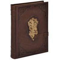 «Библия» в кожаном переплете с трехсторонним золотым обрезом