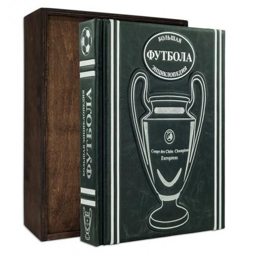 «Большая энциклопедия футбола» в составном французском переплете ручной работы с многоуровневым тиснением