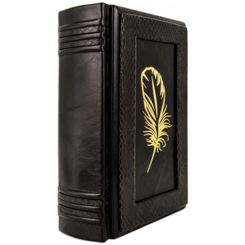 «Большая книга афоризмов» в составном французском переплете ручной работы с золотым тиснением