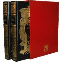 """""""Графиня де Монсоро"""" в 2 томах, кожаный переплет, коллекционное издание, экземпляр № 11-100"""