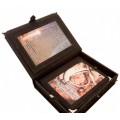 «История космических полетов» в кожаном переплете в подарочной шкатулке с художественной накладкой 2