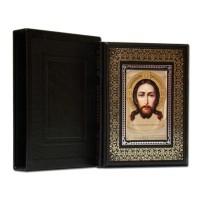 «Иллюстрированная библия» в кожаном переплете ручной работы по старинной европейской технологии
