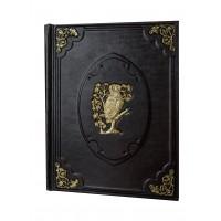 Книга мудрости с уголками и накладкой под бронзу