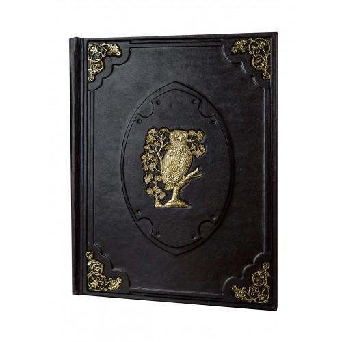 """Подарочная книга """"Книга мудрости с уголками и накладкой под бронзу"""""""
