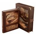 """Подарочная книга """"Корабли, 5000 лет кораблестроения и мореплавания"""" в кожаном переплёте в подарочном футляре2"""