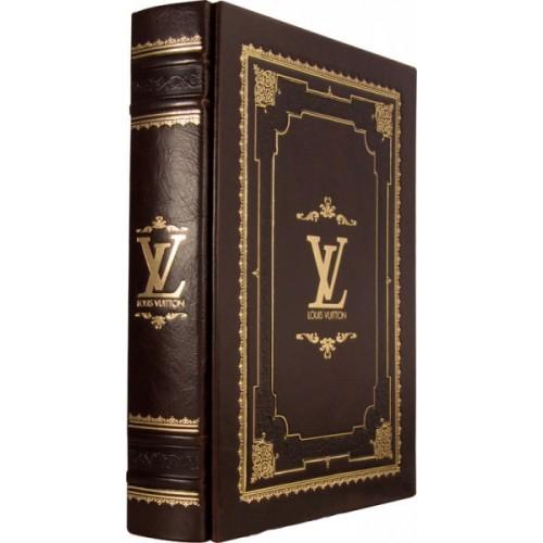 """""""LOUIS VUITTON"""" в кожаном переплёте ручной работы в подарочном мешочке"""
