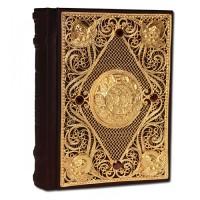 Православный молитвослов с филигранью ручной работы покрытой золотом