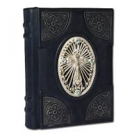 «Православный Молитвослов» в кожаном переплете с трехсторонним серебряным обрезом