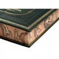 Набор «Охота», с бокалами для коньяка и книгой с расписным обрезом и бронзовым барельефом8