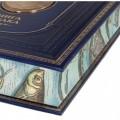 """Подарочная книга """"Сабанеев. Книга рыбака. Расписной обрез. Бронзовый барельеф"""""""