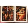 """Подарочная книга """"Шедевры мировой живописи» в кожаном переплете с тиснением и художественной накладкой """""""