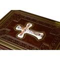 Подарочная книга Святое Евангелие на церковнославянском со вставкой финифть2