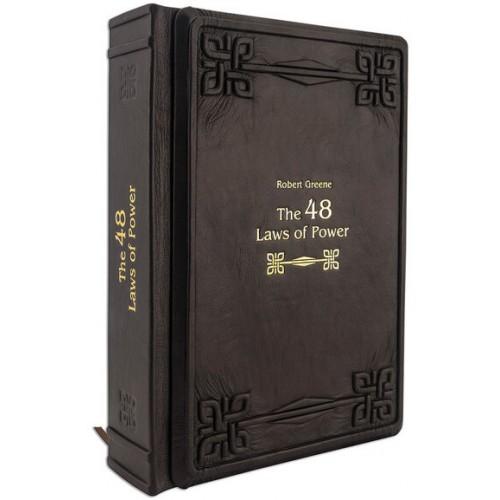 Robert Green «48 LAWS OF POWER» / «48 законов власти» в переплете ручной работы рельефным золотым тиснением