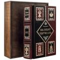 Книга «Великий Черчилль» в кожаном переплете с рельефным тиснением в подарочном мешочке1