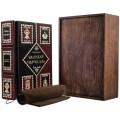 Книга «Великий Черчилль» в кожаном переплете с рельефным тиснением в подарочном мешочке2