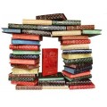«Библиотека приключений» в 20 томах, сборник 1955-1960 г в кожаном переплете с рисованным обрезом