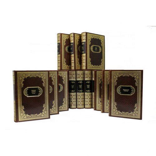 «Библиотека русской классики 10 веков» в 100 томах в кожаном переплете с тиснением