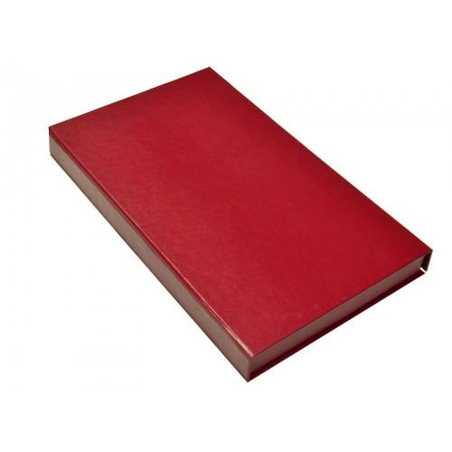 Подарочный набор «Бизнес»: ежедневник  в кожаном переплете, металлическая ручка в футляре, подарочная коробка