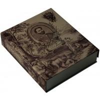 Сабанеев. Книга рыбака. Расписной обрез. Бронзовый барельеф (в подарочном футляре)