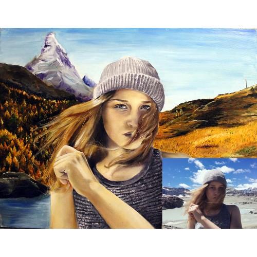 Портрет маслом A4