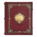 Родословная книга «Ювелирная Модерн» с накладкой «Барокко». Кабошоны из яшмы, бронзовые накладки авторской работы1